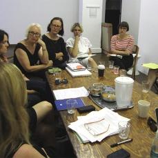 CAF steering committee. In attendance: Jacqueline Millner (chair), Bronia Iwanczak, Jo Holder, Catriona Moore, Bianca Hester, Jane Polkinghorne, Elizabeth Day,Natalie Seiz, Jasmine Stephens, Bonita Ely, Kelly Doley,Di Smith