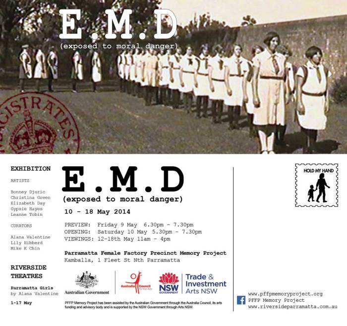 Exhibition: Exposed to Moral Danger./ Parramatta Female Factory Precinct Memory Project