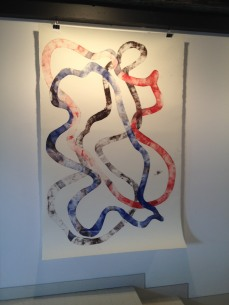 Air and Sea, monoprint, 2014. Janine Bailey