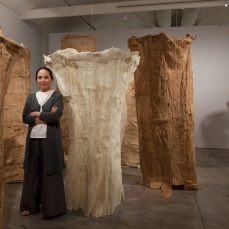 Pinaree Sanpitak, Womanly Bodies, 1998. Saa (paper mulberry) fibre, rattan, jute twine. 25 pieces (selection of 13), 180–264 cm, installation size variable Collection: Queensland Art Gallery, Brisbane, Australia Installation view, Collection+: Pinaree Sanpitak, Sherman Contemporary Art Foundation, Sydney, Australia, 2014 Photo: silversalt photography