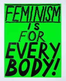 Kelly Doley, Things Learnt About Feminism 1. 52 x 60 cm, ink on 220 gsm card. 2014. Image: Jessica Maurer