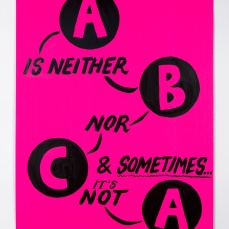 Kelly Doley, Things Learnt About Feminism 3. 52 x 60 cm, ink on 220 gsm card. 2014. Image: Jessica Maurer
