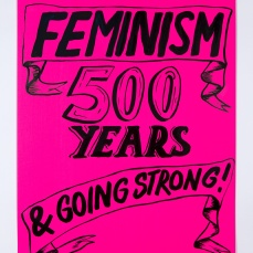 Kelly Doley, Things Learnt About Feminism 6. 52 x 60 cm, ink on 220 gsm card. 2014. Image: Jessica Maurer