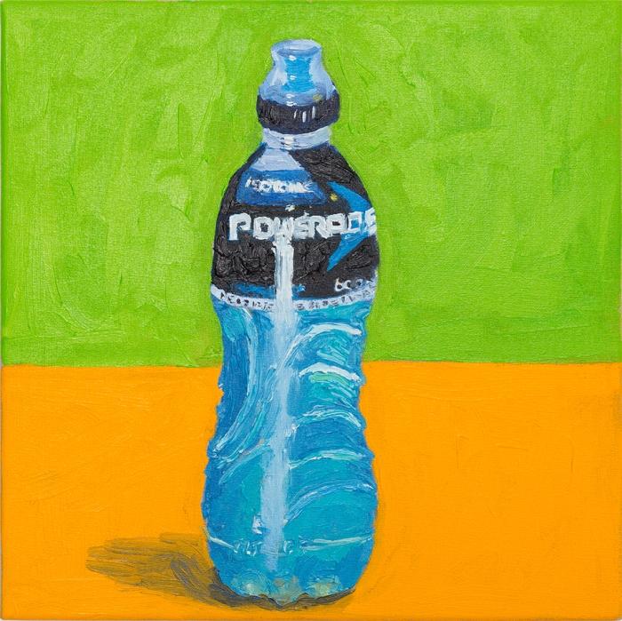 Brenda Samuels, Powerade, 2015, oil on canvas. 30x30cm
