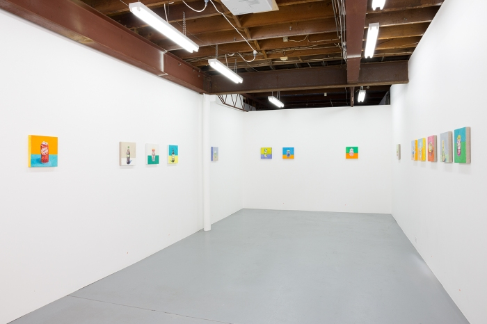 'Paintings by Mum', installation view, Airspace Projects, 2015,. Exhibition by Brenda Samuels, curated by Miranda Samuels